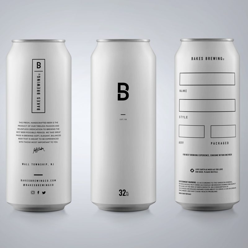 Bakes Brewing Crowler Worx & Co Global Branding Company