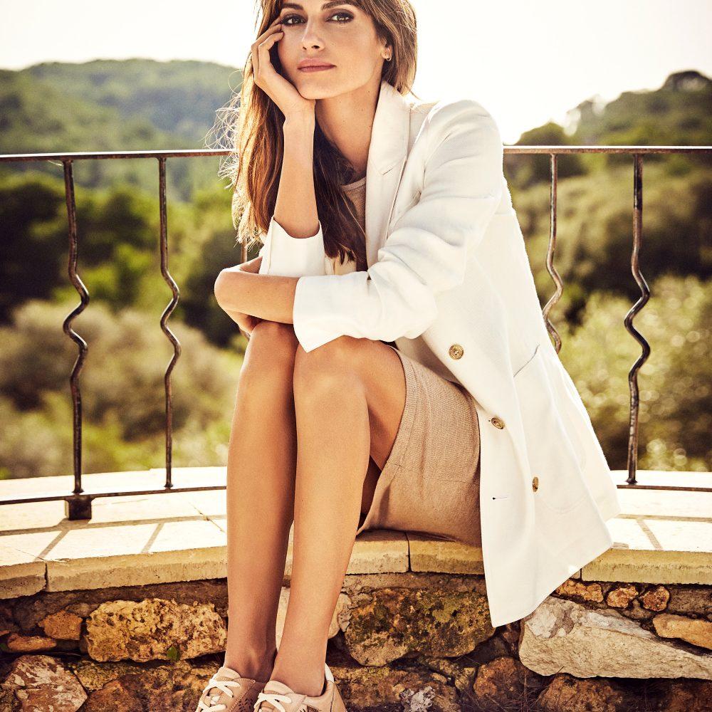 ELM Model wearing shoes