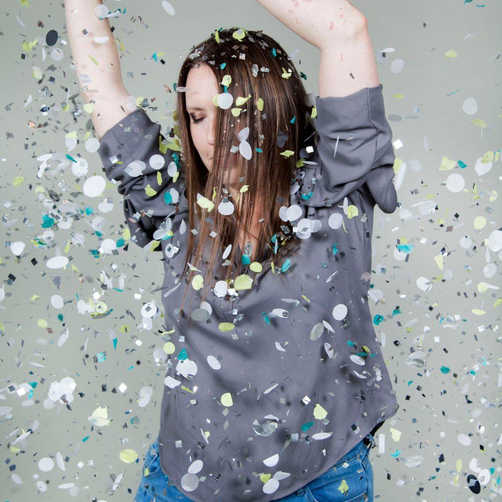 Laura in confetti