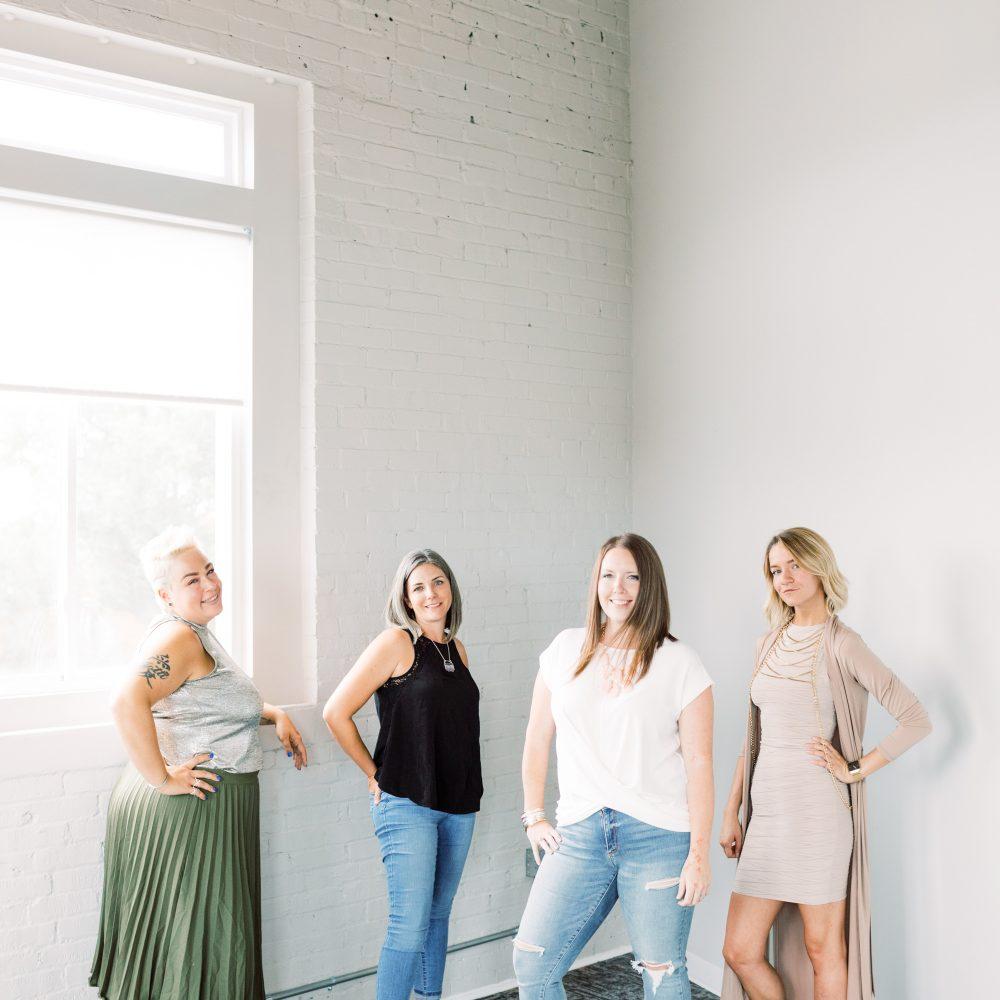 Kristin, Amber, Laura, Kelli in Laura's office