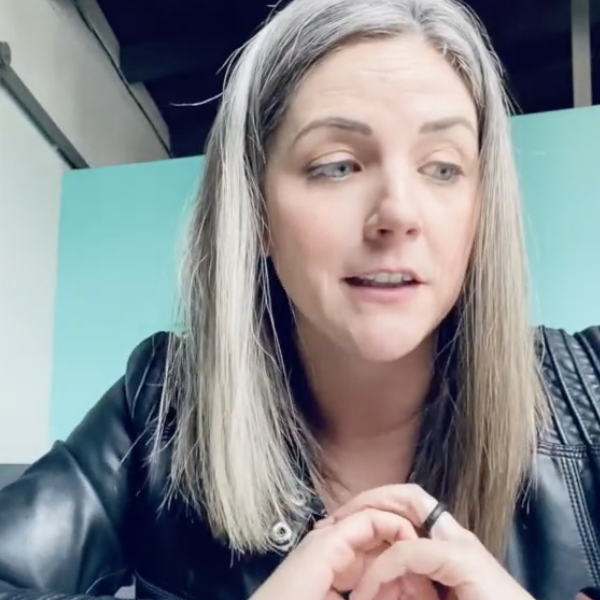 Amber talking in video